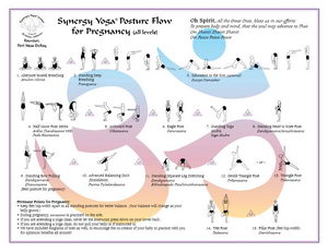 Synergy Yoga Pregnancy Posture Flow Chart