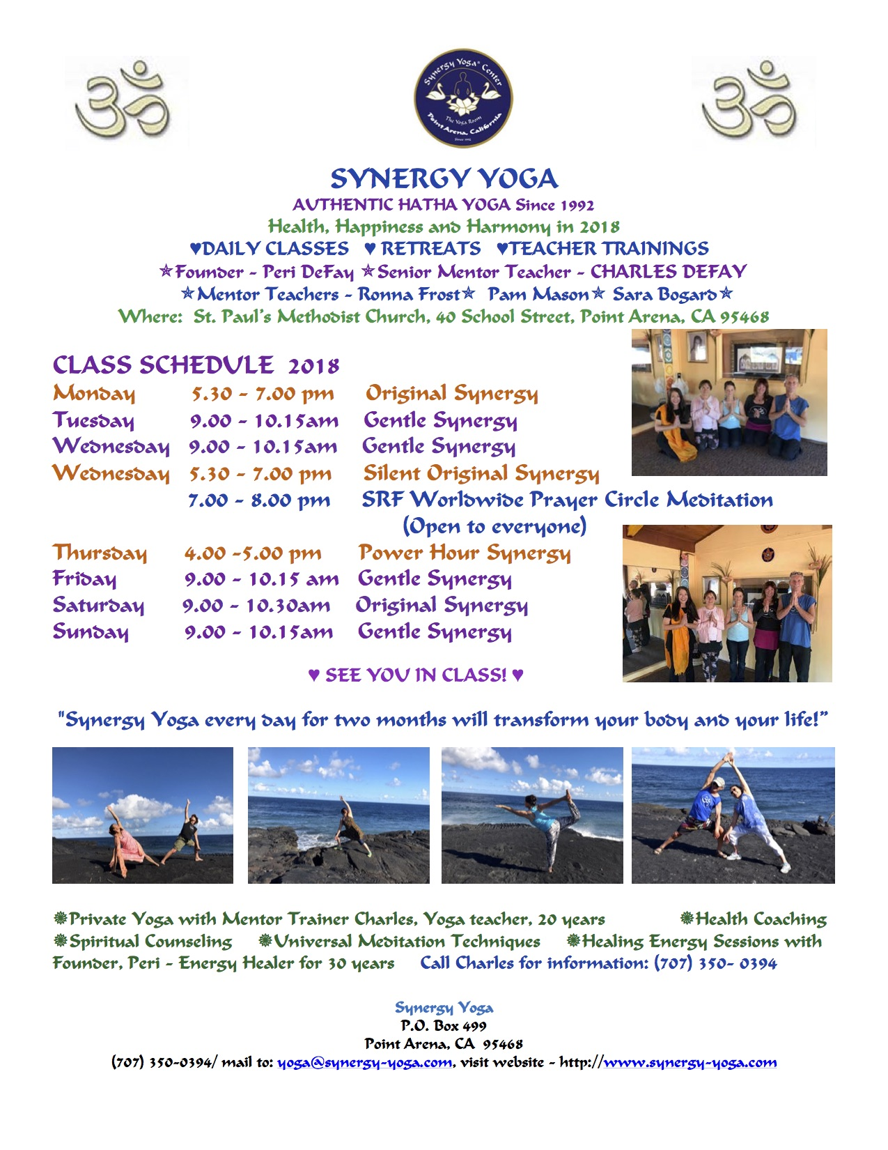 download a printable synergy yoga schedule